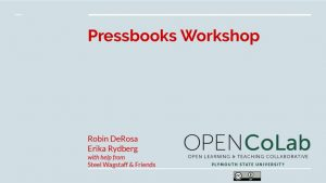 thumbnail of CoLab Pressbooks Workshop
