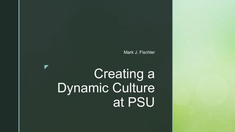 thumbnail of Culture Change at PSU