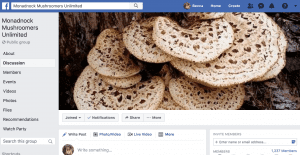 Facebook post of a bloom of fungus.