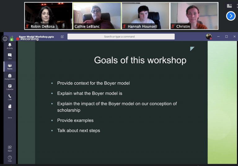 Screenshot of webinar slide