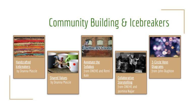 Community icebreakers