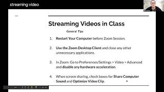 Streaming videos in class